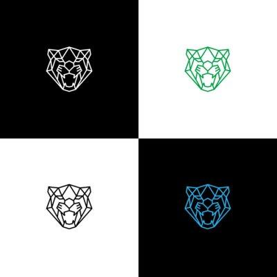 Fototapeta geometric panther head