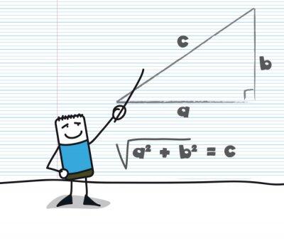 Fototapeta Geometrie: Théorème de Pythagore