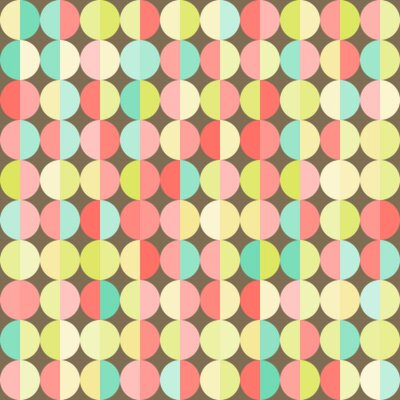 Fototapeta Geometryczne abstrakcyjne tło z kolorowych kół