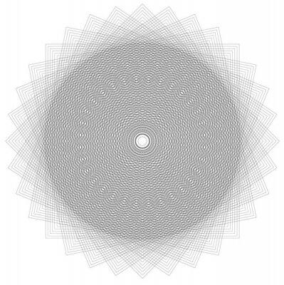 Fototapeta geometryczne koło
