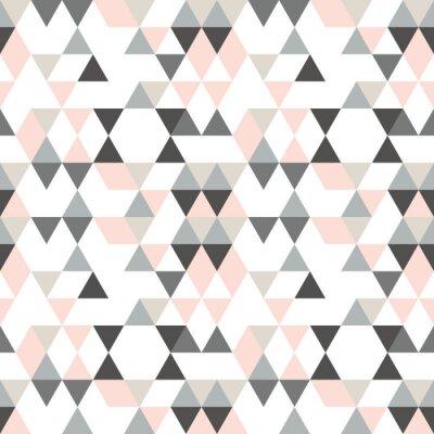 Fototapeta Geometryczny wzór abstrakcyjny z trójkątami w wyciszonych kolorach retro.
