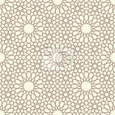 Fototapeta Geometryczny wzór bez szwu arabskiego. Streszczenie islamski tle wektora.