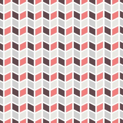 Fototapeta Geometryczny wzór (płytki). Wektor bez szwu streszczenie rocznika