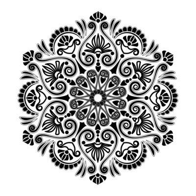 Fototapeta Geometryczny wzór promieniowy