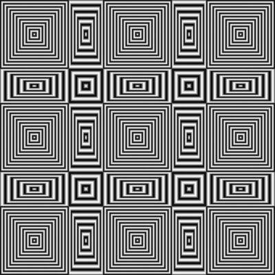 Fototapeta Geometryczny złudzenie optyczne czarno-białe paski