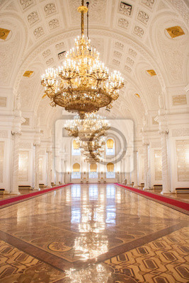 Fototapeta Georgievsky Sala Kremlin Palace w Moskwie