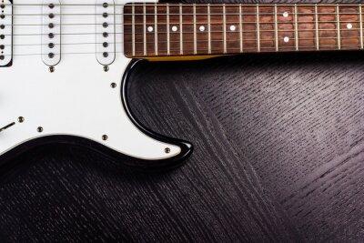 Fototapeta gitara elektryczna na czarnym tle