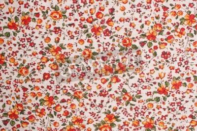 Fototapeta glamour tkaniny w kwiaty, zdjęcie