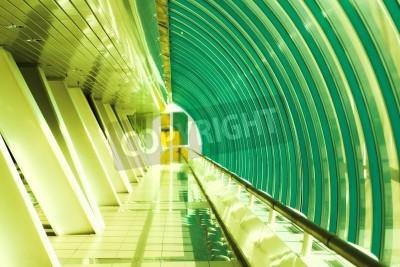 Fototapeta glass corridor in office centre