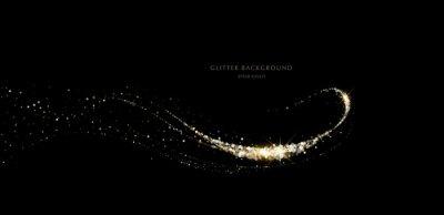 Fototapeta glitter background, luxury gold stardust light