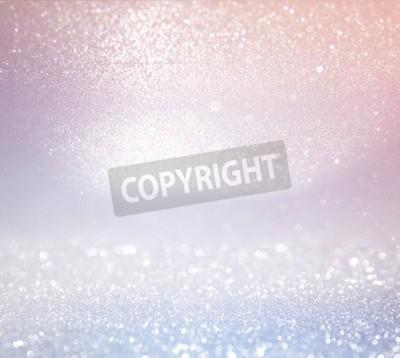 Fototapeta Glitter rocznika tle światła. Jasny srebrny i różowy. Defocused.