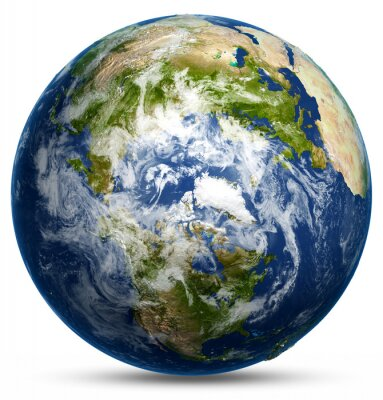 Fototapeta Glob mapie