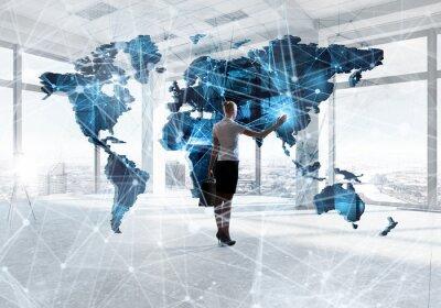 Fototapeta Globalne technologie dla przyszłego życia