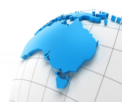 Fototapeta Globe of Australia with national borders