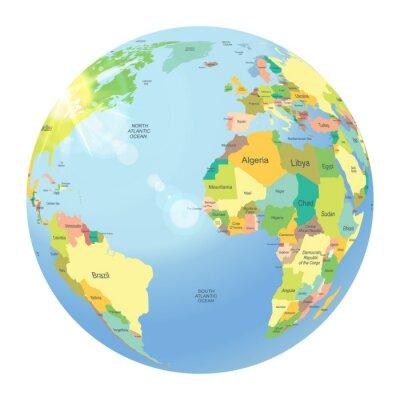 Fototapeta Globe wyizolowanych na białym tle