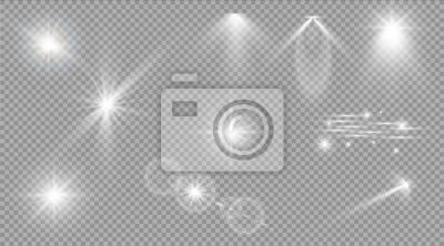 Fototapeta Glow efekt świetlny. Star burst z błyskotki. światło słoneczne.