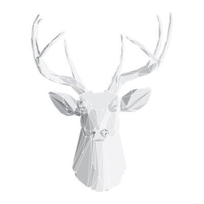 Fototapeta Głowa jelenia na białym tle 2