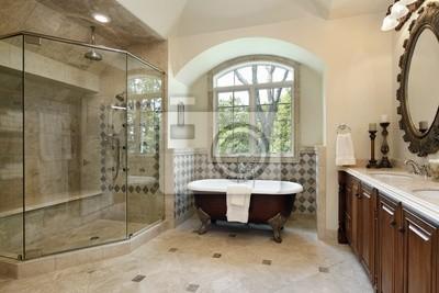 Główna łazienka Z Dużą Kabiną Prysznicową Fototapety Redro