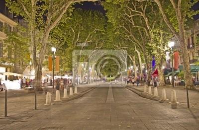 Główna ulica w Aix-en-Provence, na południu Francji