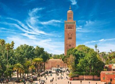 Fototapeta Główny plac w Marrakeszu w starej medyny. Maroko.