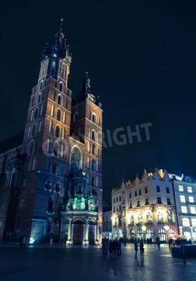 Fototapeta Główny plac zwany Rynek Główny w Krakowie w Krakowie miasta