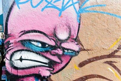Fototapeta Gniewna twarz Graffiti