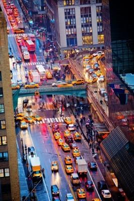 Fototapeta Godziny szczytu na 42 ulicy w Nowym Jorku