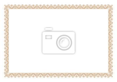 Fototapeta Gold Certificate of Appreciation Border