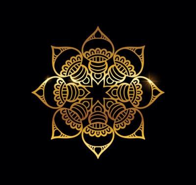 Fototapeta Golden Mandala with Gold Shine Effect