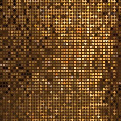 Fototapeta Goldene Punkte - Vektor Grafik - Gold Beige Braun Gelb -Glanz - Złote kropki - Grafika wektorowa - Beżowy Brązowy Żółty połysk