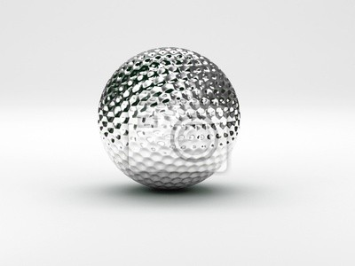 Fototapeta Golf ball silver