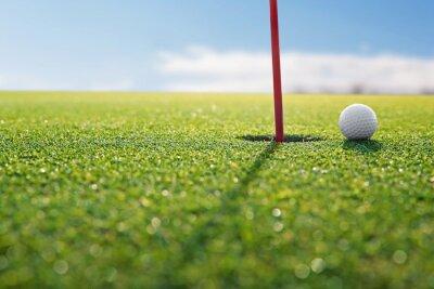 Fototapeta golf czerwony dziura