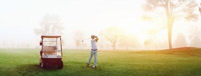 Fototapeta golf człowiek