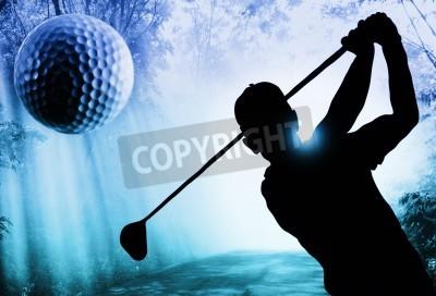 Fototapeta Golfista sylwetka