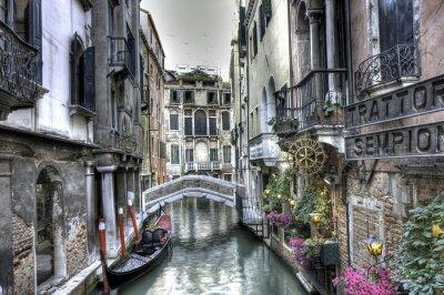 Fototapeta Gondel, Palazzi und Bruecke, Venedig, Italien