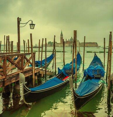 Fototapeta Gondolas at Grand Canal, Venice, Italy
