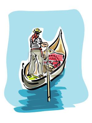 Fototapeta gondole Veneziane