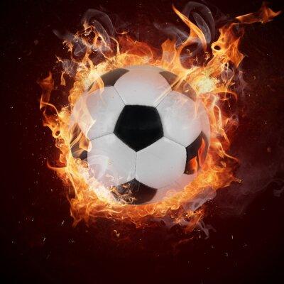 Fototapeta Gorąco piłka w płomienia pożary
