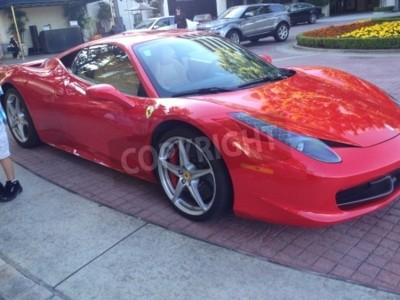 Fototapeta Gorgeous czerwonym Ferrari