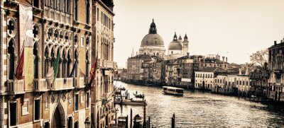 Fototapeta Gorgeous view on Venice water channel