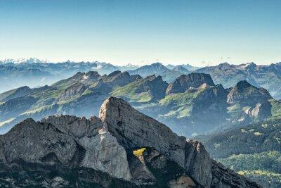 Fototapeta Górski widok z góry Saentis, Szwajcaria, Alpy Szwajcarskie.