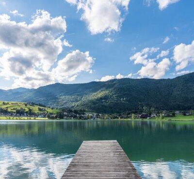 Fototapeta Górskie jezioro w Alpach, w Austrii