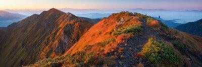 Fototapeta Górskie panoramy o świcie