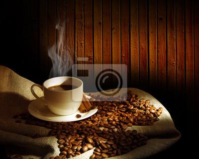 Fototapeta Gotowanie na parze filiżanka kawy