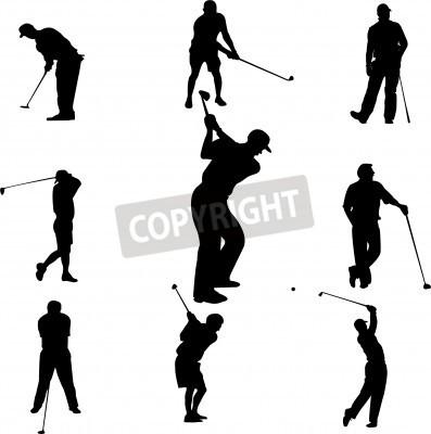 Fototapeta graczy w golfa