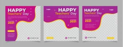 Fototapeta gradient teachers' day instagram posts collection