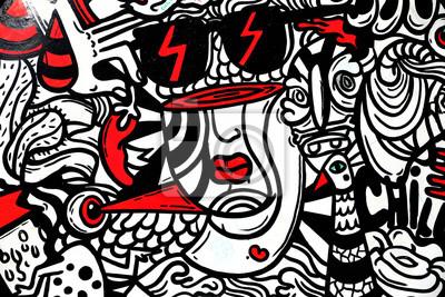 Fototapeta Graffiti do współczesnego wnętrza, abstrakcja Picasso do winiarni
