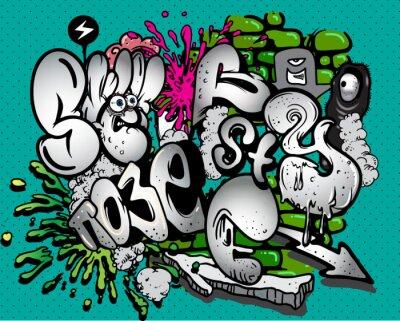 Fototapeta Graffiti elementy wektorowe