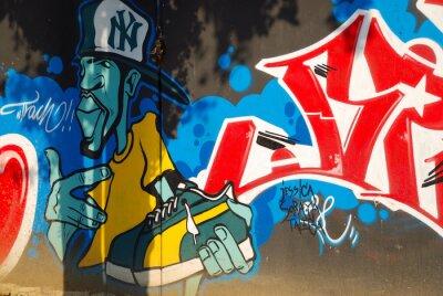 Fototapeta GRAFFITI, HIP HOP expresion DEL