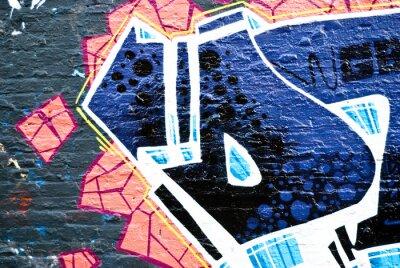 Fototapeta Graffiti na ścianie z teksturą